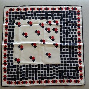 Vintage acetate block scarf